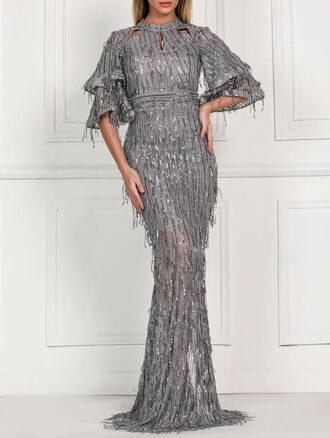 لباس مجلسی پولک ریش ۱۵۰۱ کاتالوگ