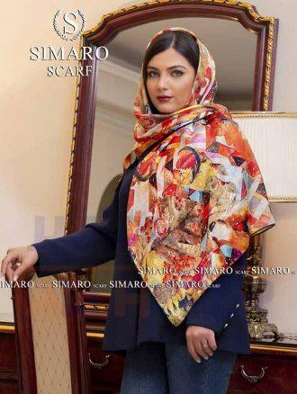 روسری ابریشم (کد۷۳۳) سیمارو