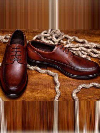کفش چرم مردانه (کد۱۶۸) فرزانه