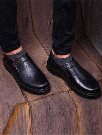 کفش چرم مردانه (کد۲۵۸) فرزانه