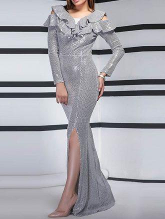 لباس مجلسی بلند آینه ای (کد۱۴۶۰) کاتالوگ
