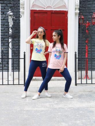 ست تیشرت و شلوار دخترانه ۷۲۰ ناپولی