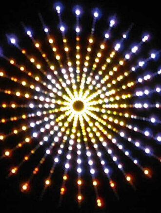 چراغ نورپردازی نما رنگی