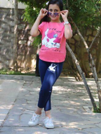 تیشرت شلوار دخترانه ۸۷۰ ناپولی