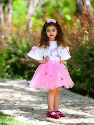 تاپ دامن دخترانه ۲۱۰۰ فسقلی