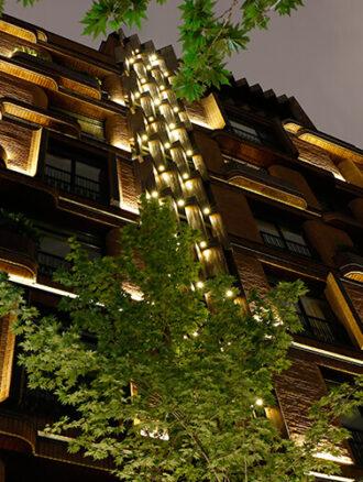 نورپردازی مخفی نمای ساختمان