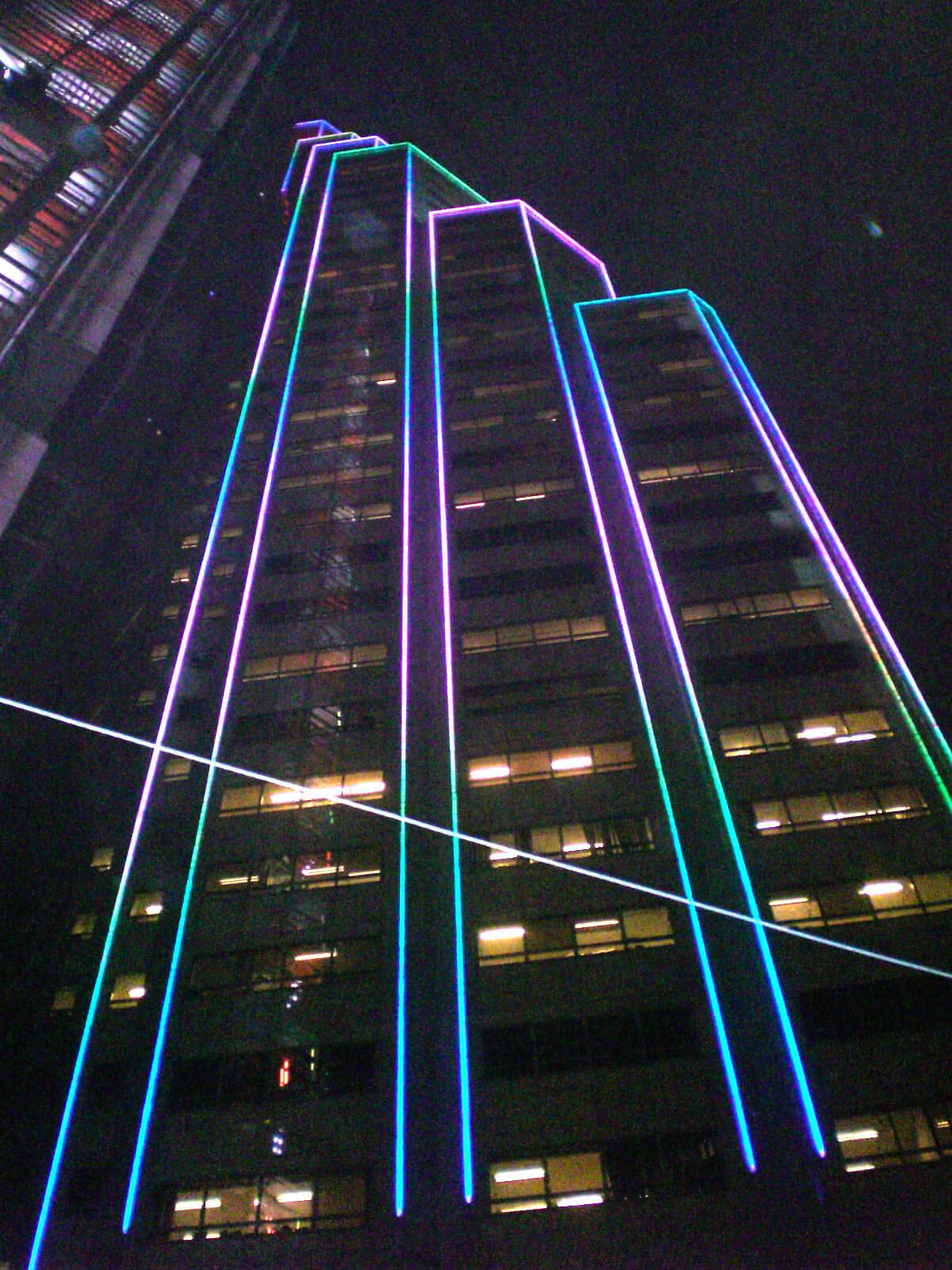 نورپردازی نمای برج