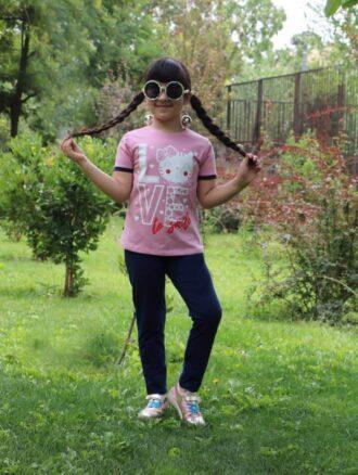 تیشرت و شلوار دخترانه ۸۲۰ ناپولی
