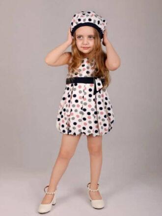 سارافون دخترانه کلاه دار